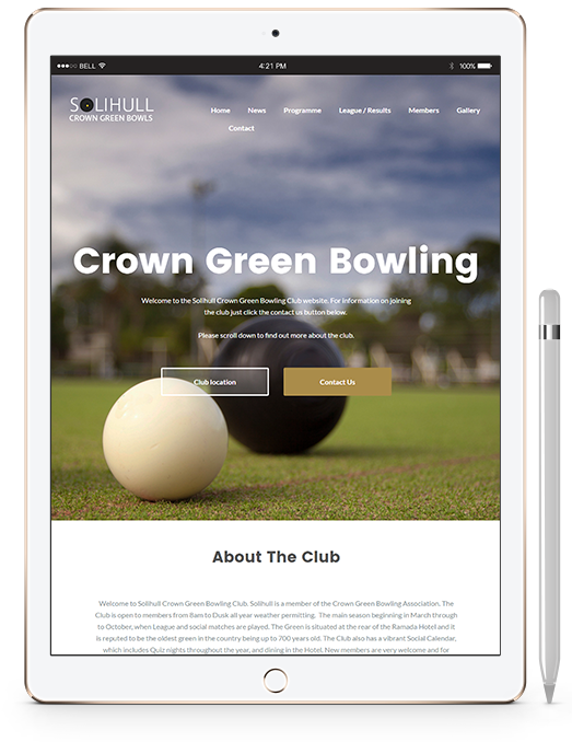 Solihull Bowls Website